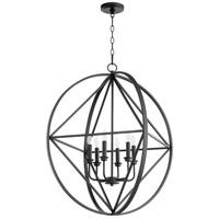 Quorum 807-6-69 Signature 6 Light 28 inch Noir Pendant Ceiling Light