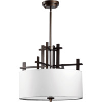 Quorum International Tate 4 Light Pendant in Oiled Bronze 8098-4-86