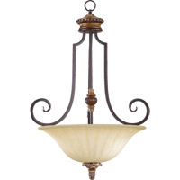Quorum 8101-3-44 Capella 3 Light 22 inch Toasted Sienna With Golden Fawn Pendant Ceiling Light