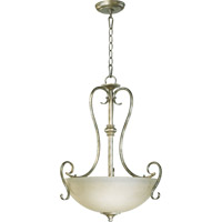 Powell 3 Light 19 inch Mystic Silver Pendant Ceiling Light