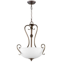 Quorum 8108-3-86 Powell 3 Light 19 inch Oiled Bronze Pendant Ceiling Light