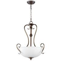 Quorum 8108-3-86 Powell 3 Light 19 inch Oiled Bronze Pendant Ceiling Light
