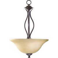 Quorum 8110-3-44 Spencer 3 Light 16 inch Toasted Sienna Pendant Ceiling Light