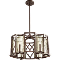 Quorum International Ventana 6 Light Pendant in Oiled Bronze 8111-6-86