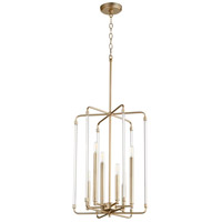 Quorum 8114-6-80 Optic 6 Light 16 inch Aged Brass Entry Pendant Ceiling Light