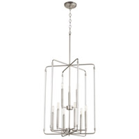 Quorum 8114-9-65 Optic 9 Light 20 inch Satin Nickel Entry Pendant Ceiling Light