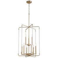 Quorum 8114-9-80 Optic 9 Light 20 inch Aged Brass Entry Pendant Ceiling Light