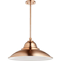 Quorum International Signature 1 Light Pendant in Satin Copper 812-26-49