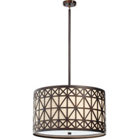 Quorum International Celest 4 Light Pendant in Oiled Bronze 812-4-86