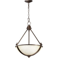 Quorum 8129-3-186 Winslet II 3 Light 18 inch Oiled Bronze Pendant Ceiling Light