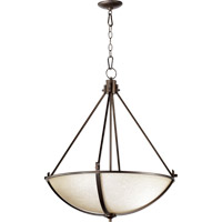 Quorum 8129-4-186 Winslet II 4 Light 26 inch Oiled Bronze Pendant Ceiling Light