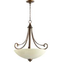 Quorum 8131-4-86 Lariat 4 Light 23 inch Oiled Bronze Pendant Ceiling Light