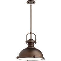 Quorum 814-20-86 Hinge 3 Light 20 inch Oiled Bronze Pendant Ceiling Light