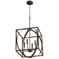 Quorum 8150-4-86 Signature 4 Light 16 inch Oiled Bronze Pendant Ceiling Light