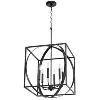 Quorum 8150-6-69 Signature 6 Light 18 inch Noir Pendant Ceiling Light
