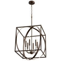 Signature 6 Light 18 inch Oiled Bronze Pendant Ceiling Light