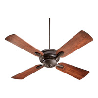 Quorum 81524-86 Valor 52 inch Oiled Bronze with Distressed Vintage Walnut Blades Ceiling Fan