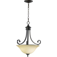 Quorum 8154-3-86 Bryant 3 Light 18 inch Oiled Bronze Pendant Ceiling Light