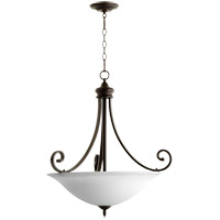 Quorum 8154-4-186 Bryant 4 Light 28 inch Oiled Bronze Pendant Ceiling Light