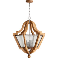 Quorum International Ashford 6 Light Pendant in Provincial with Rustic Iron Accents 8163-6-23