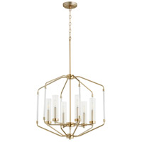 Quorum 8163-6-80 Citadel 6 Light 24 inch Aged Brass Pendant Ceiling Light