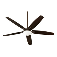 Quorum Vector 3 Light Ceiling Fan in Oiled Bronze 81725-86