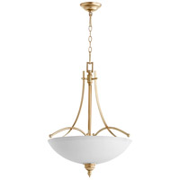 Quorum 8177-4-60 Aspen 4 Light 22 inch Aged Silver Leaf Pendant Ceiling Light