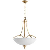 Quorum 8177-4-60 Aspen 4 Light 22 inch Aged Silver Leaf Pendant Ceiling Light