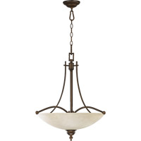 Quorum 8177-4-86 Aspen 4 Light 22 inch Oiled Bronze Pendant Ceiling Light