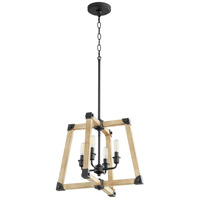 Alpine 4 Light 18 inch Noir with Driftwood Pendant Ceiling Light