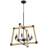 Alpine 8 Light 26 inch Noir with Driftwood Pendant Ceiling Light