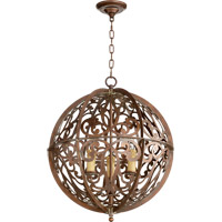 Quorum 819-3-39 Montgomery 3 Light 20 inch Vintage Copper Chandelier Ceiling Light