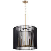 Quorum 819-5-80 Finura 5 Light 21 inch Aged Brass Pendant Ceiling Light