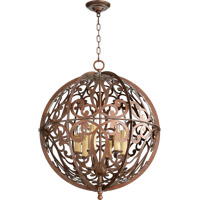 Quorum 819-6-39 Montgomery 6 Light 24 inch Vintage Copper Chandelier Ceiling Light