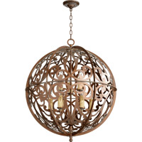 Montgomery 9 Light 28 inch Vintage Copper Chandelier Ceiling Light