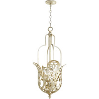 Quorum 8192-4-60 Le Monde 4 Light 16 inch Aged Silver Leaf Pendant Ceiling Light