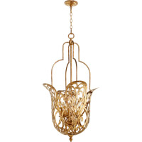 Quorum 8192-6-30 Le Monde 6 Light 21 inch Vintage Gold Leaf Pendant Ceiling Light