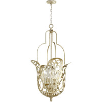 Quorum 8192-6-60 Le Monde 6 Light 21 inch Aged Silver Leaf Pendant Ceiling Light