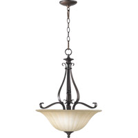 Quorum 8194-3-86 Randolph 3 Light 19 inch Oiled Bronze Pendant Ceiling Light