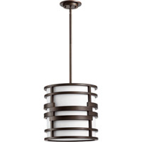 Quorum International Solo 1 Light Pendant in Oiled Bronze 8202-14-86