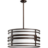Quorum International Solo 4 Light Pendant in Oiled Bronze 8202-28-86
