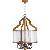 Quorum International Ashford 6 Light Pendant in Provincial with Rustic Iron Accents 8263-6-23