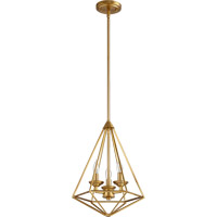 Bennett 3 Light 13 inch Aged Brass Pendant Ceiling Light