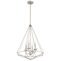 Quorum 8311-4-65 Bennett 4 Light 20 inch Satin Nickel Pendant Ceiling Light