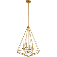 Quorum 8311-4-80 Bennett 4 Light 20 inch Aged Brass Pendant Ceiling Light