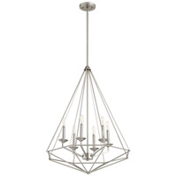 Quorum 8311-6-65 Bennett 6 Light 24 inch Satin Nickel Pendant Ceiling Light