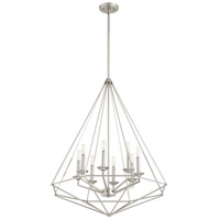Quorum 8311-8-65 Bennett 8 Light 29 inch Satin Nickel Pendant Ceiling Light