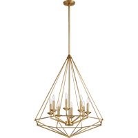 Quorum 8311-8-80 Bennett 8 Light 29 inch Aged Brass Pendant Ceiling Light