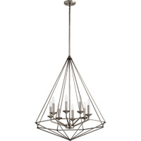 Bennett 8 Light 29 inch Antique Silver Pendant Ceiling Light