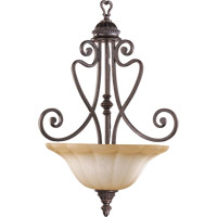 Quorum 8326-3-44 Summerset 3 Light 18 inch Toasted Sienna Pendant Ceiling Light